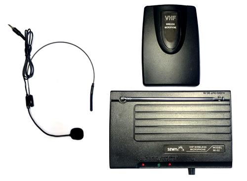 Micrófono Vincha y Corbatero Inalámbrico Sewy