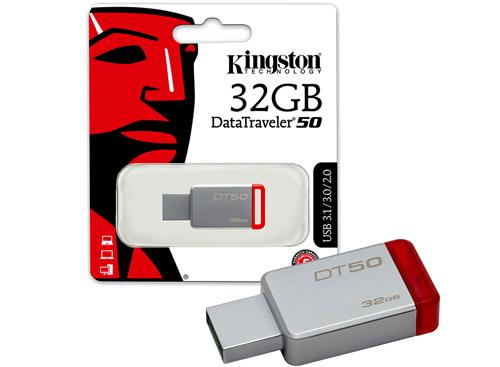 Pendrive Kingston| 32gb Usb 3.1| Modelo DT 50