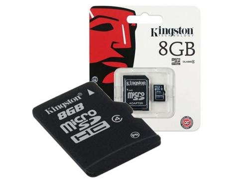 Memoria SD Kingston Clase 4 8GB  Con Garantia