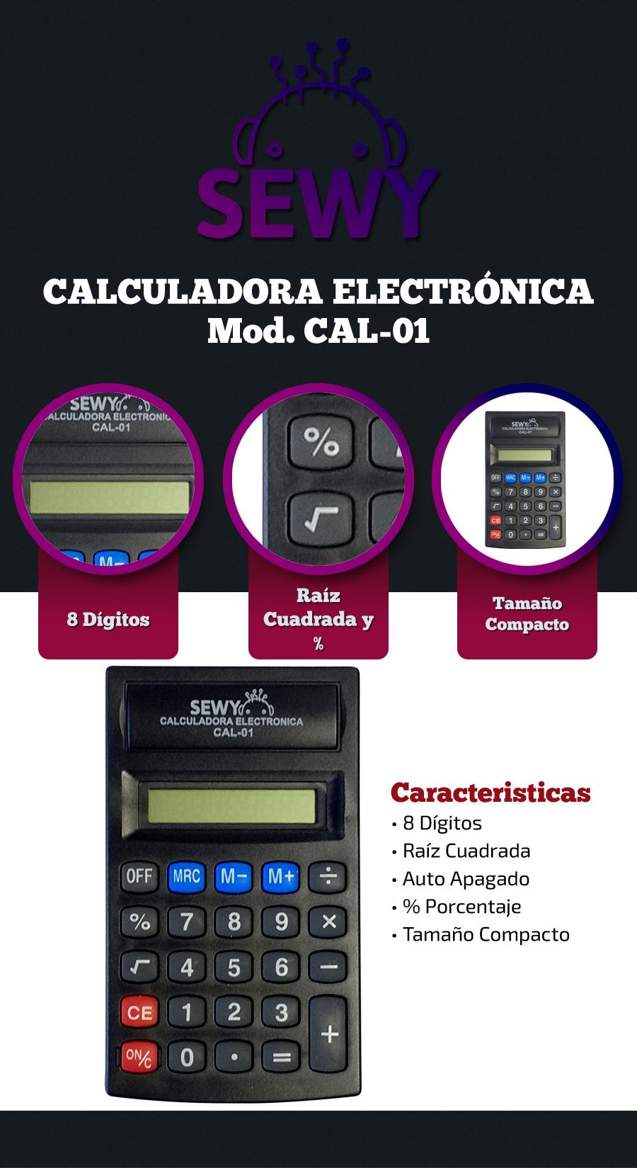 Calculadora Electrónica Sewy Compacta CAL-01
