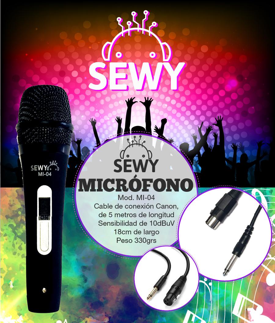 Microfono Sewy MI-04 de Alta Calidad de Sonido