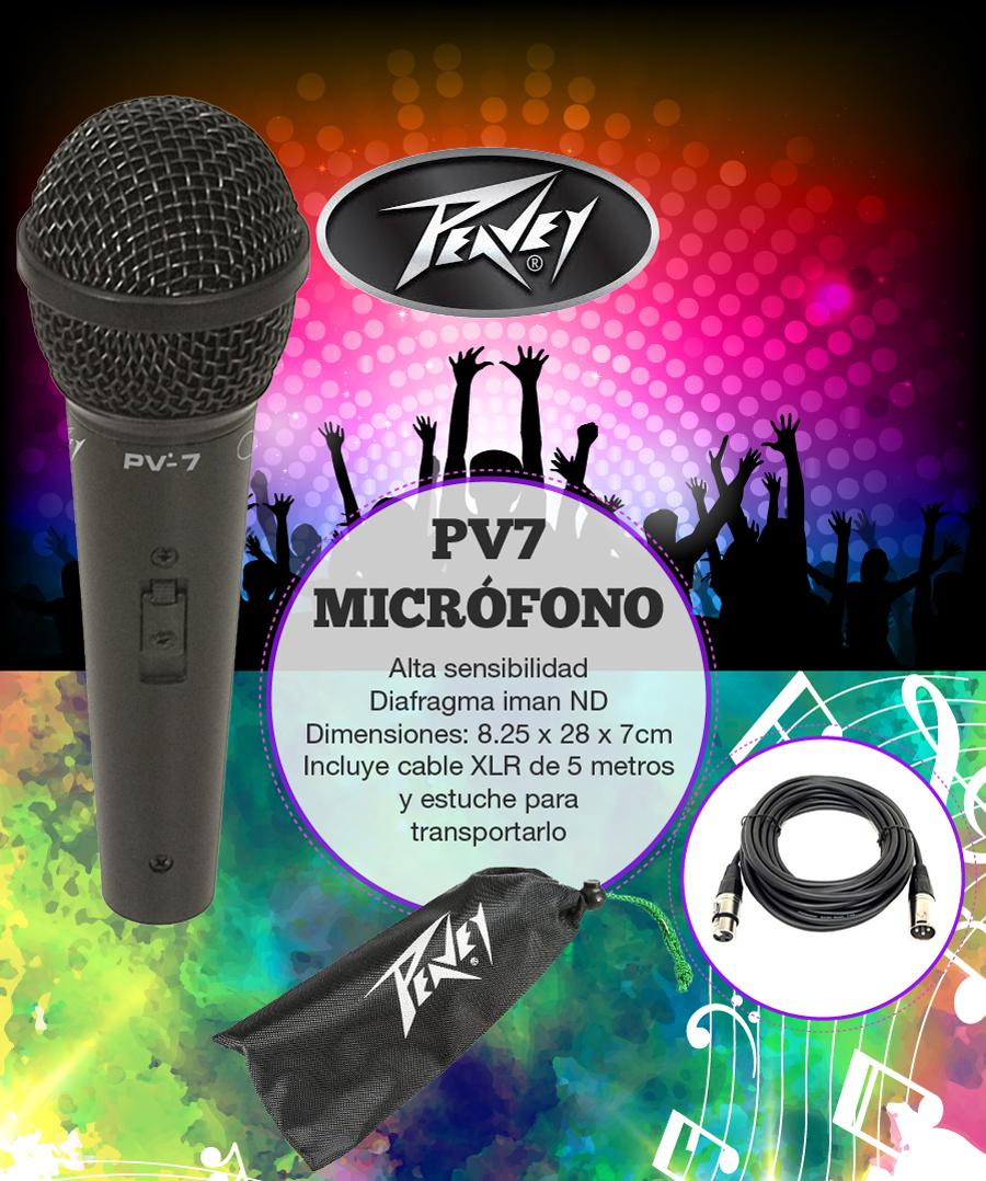 Micrófono Peavy Pv7   Alta  Calidad de Sonido