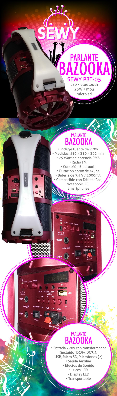 Parlante Bazooka Sewy PBT-05 25W Karaoke